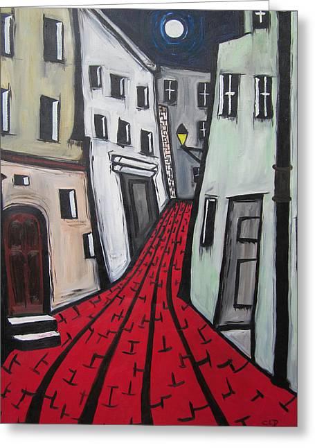 Backstreets Greeting Card by Cheryl Pettigrew