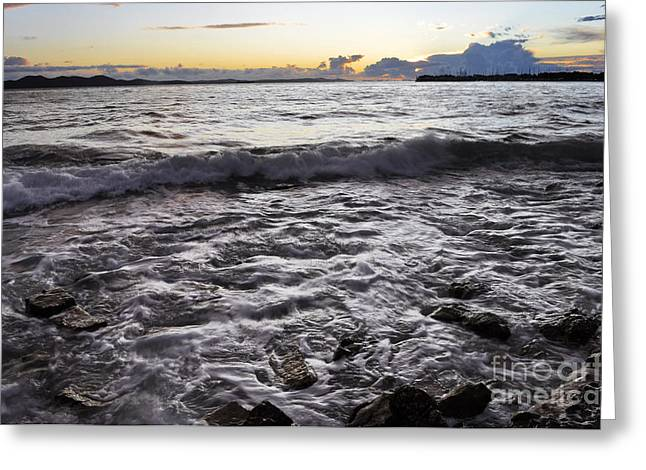 Backwash Greeting Card by Roberto Bettacchi