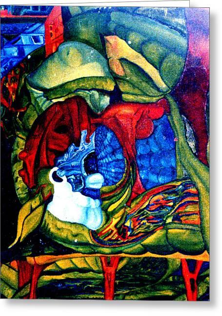 Backyard Planet Greeting Card by Dan Cope