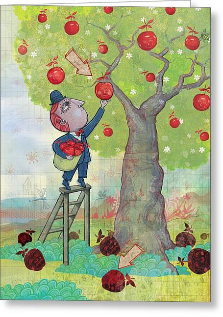 Bad Apples Good Apples Greeting Card