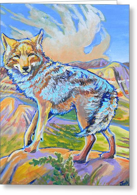 Badland Coyote Greeting Card