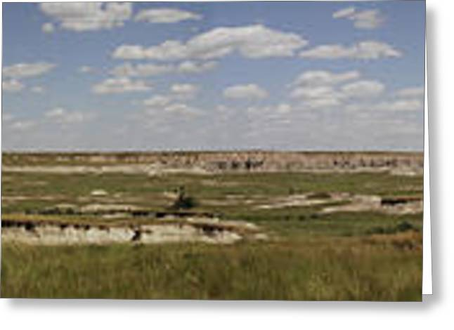 Badlands Panorama Greeting Card by Michael Flood
