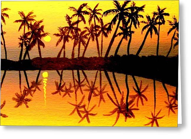Badsummer Sun Greeting Card