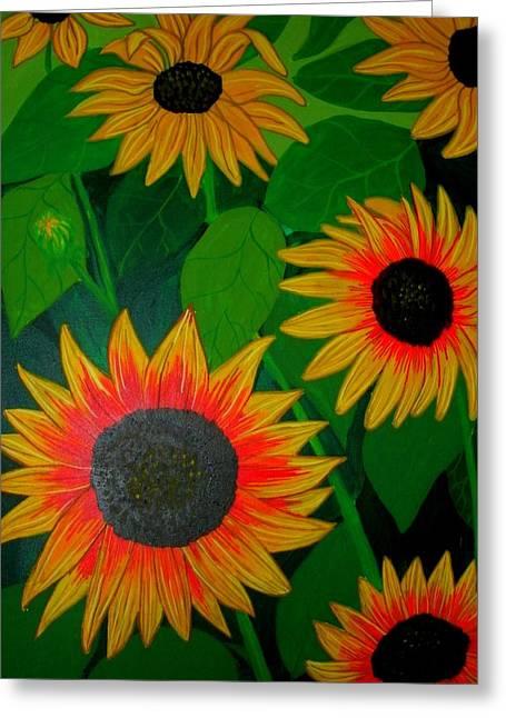 Badsunflower Greeting Card