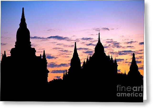 Greeting Card featuring the photograph Bagan by Luciano Mortula
