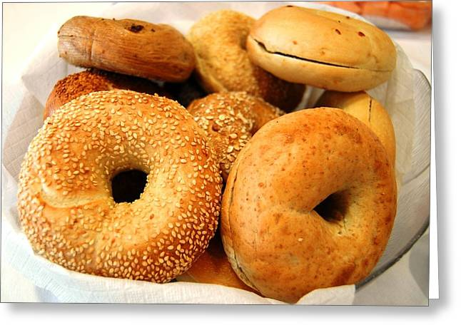 Bagels For Breakfast  Greeting Card by Lissandra Melo