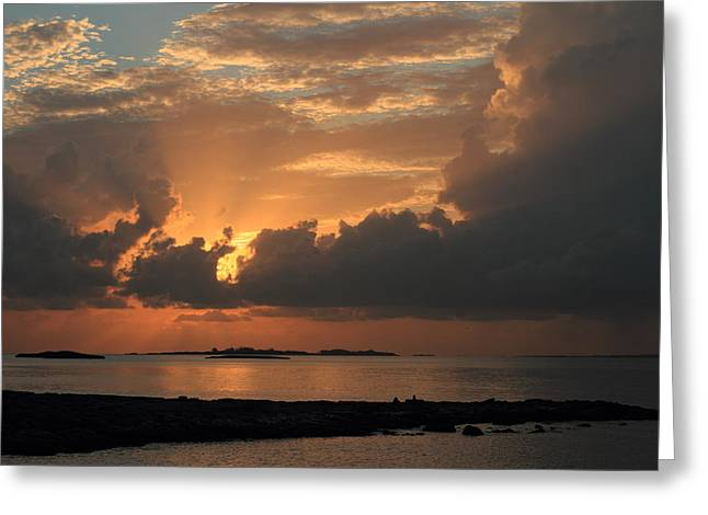 Greeting Card featuring the photograph Bahamas Sunset by Coby Cooper