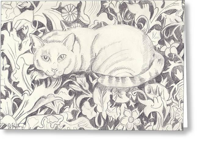 Bailey The Cat Greeting Card by John Keaton