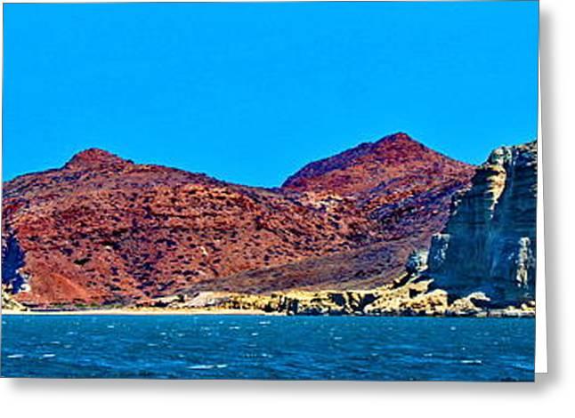 Baja Coastline Greeting Card by Russ Harris