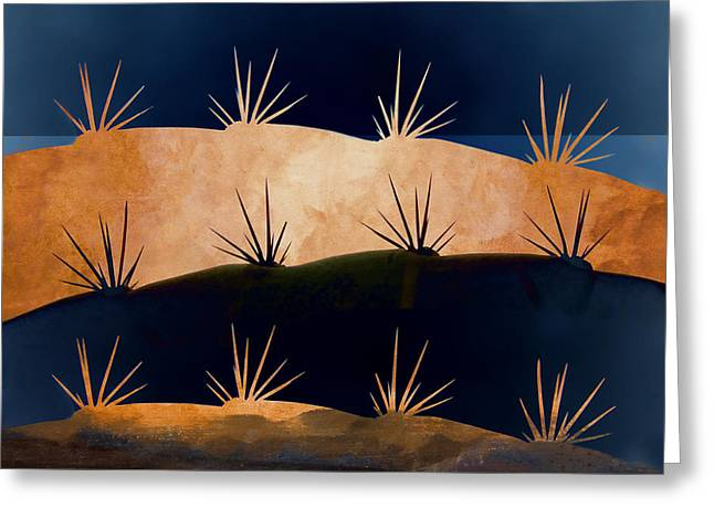Baja Landscape Number 1 Greeting Card by Carol Leigh