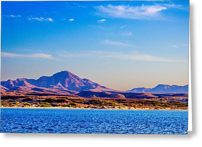 Baja Mountains Greeting Card by Russ Harris