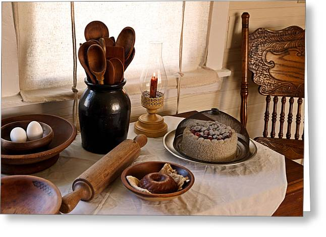Baked Goods Greeting Card by Carmen Del Valle