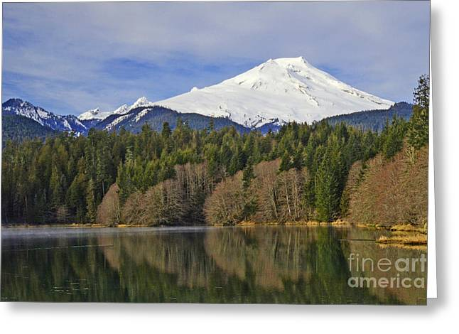 Greeting Card featuring the photograph Baker Lake by Jack Moskovita
