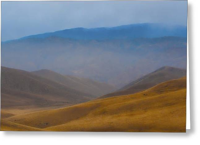 Greeting Card featuring the photograph Bakersfield Horizon by Hugh Smith