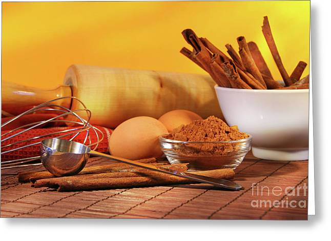 Baking Ingredients Greeting Card
