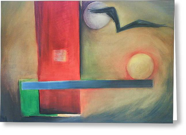 Greeting Card featuring the painting Balance by Jan Swaren