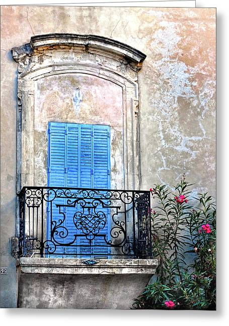 Greeting Card featuring the photograph Balcony Provence France by Dave Mills