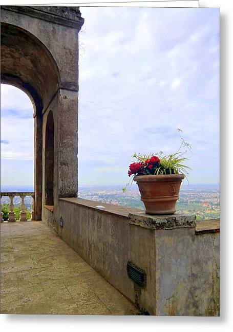 Balcony To Rome Greeting Card by Mindy Newman