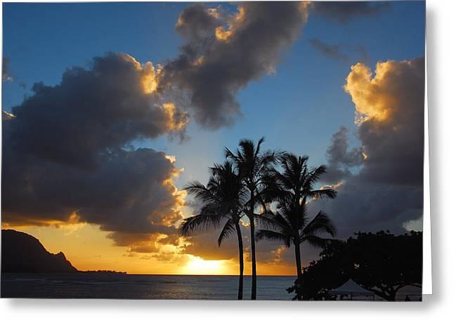 Greeting Card featuring the photograph Bali Hai Sunset by Lynn Bauer