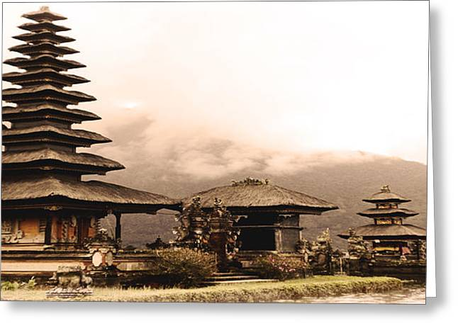 Bali - Uluwatu Island Temple Greeting Card by Yvon van der Wijk