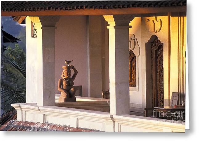 Balinese Guesthouse At Sunrise Greeting Card by Gordon Wood