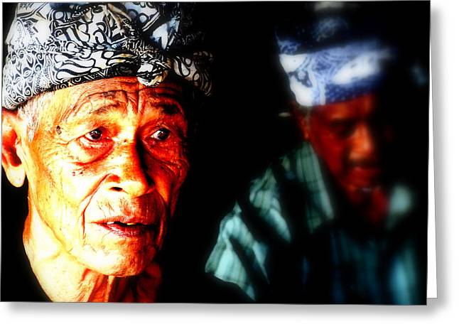 Balinese Old Man Greeting Card by Funkpix Photo Hunter