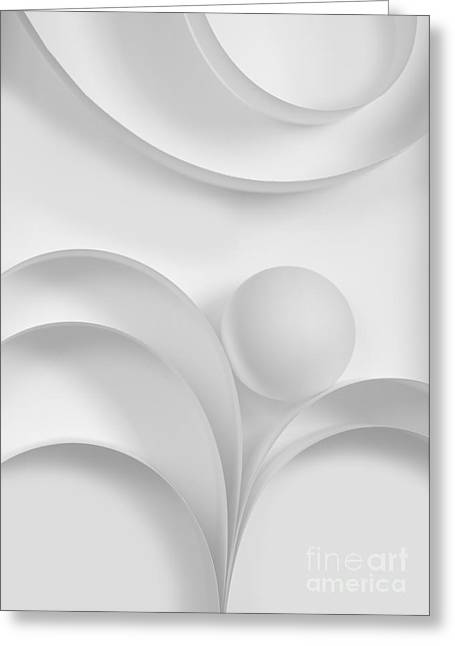 Ball And Curves 03 Greeting Card by Nailia Schwarz