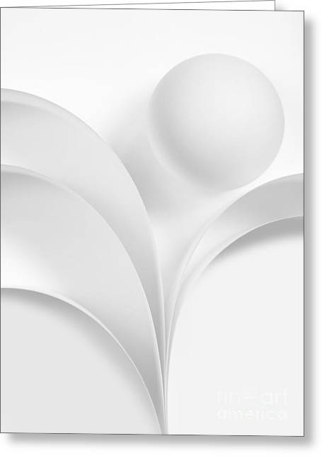 Ball And Curves 06 Greeting Card