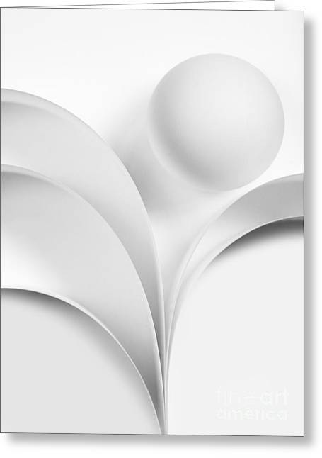 Ball And Curves 07 Greeting Card