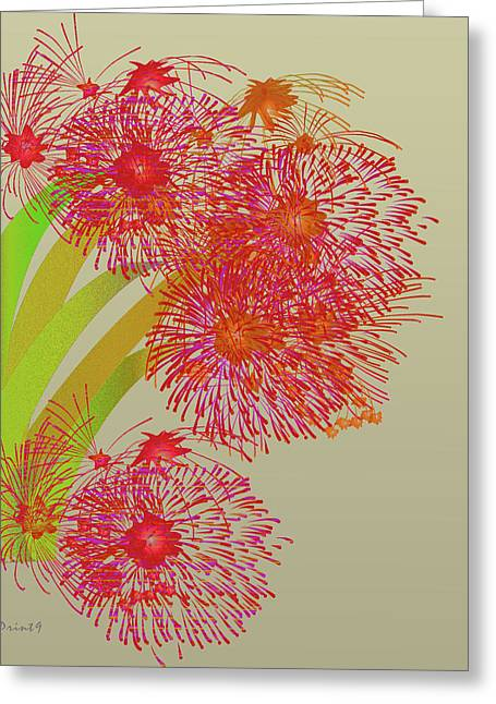 Greeting Card featuring the digital art Ball Of Fire by Asok Mukhopadhyay