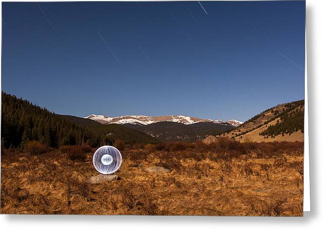 Ball Of Light Geneva Creek Valley Greeting Card by Richard Steinberger