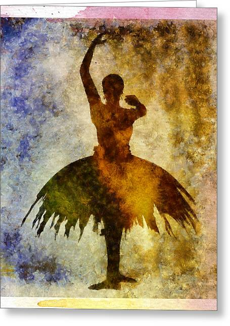Ballerina 1 With Border Greeting Card