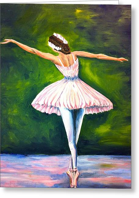 Ballerina Greeting Card by Tiffany Albright