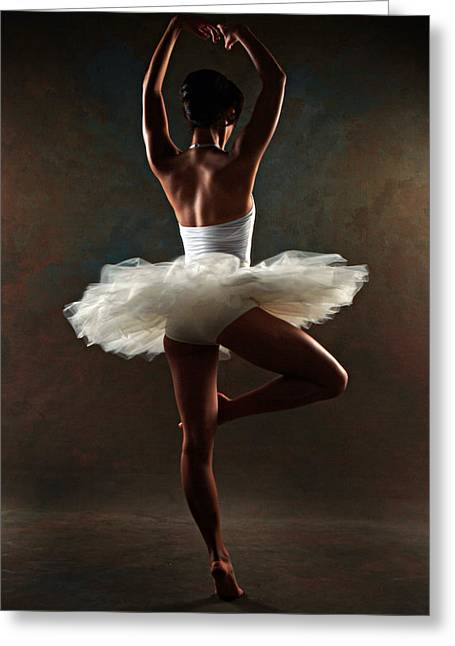Ballerina Greeting Card by Tonino Guzzo