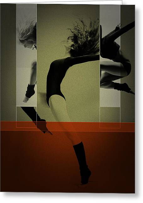 Ballet Dancing Greeting Card by Naxart Studio