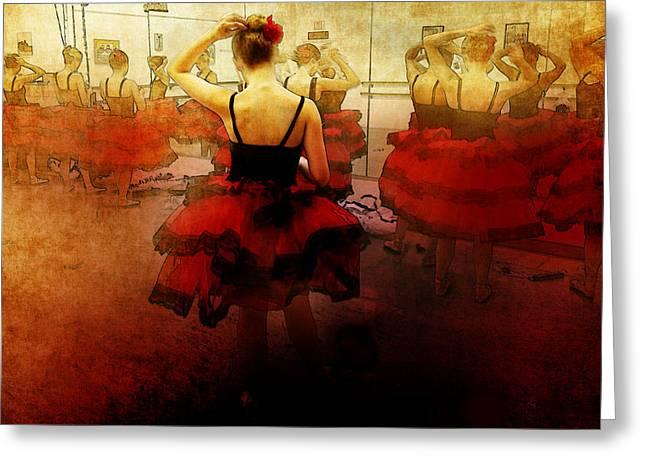 Ballet Dress Rehearsal Greeting Card by Chris Modarelli