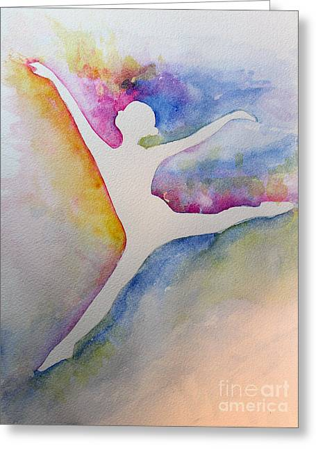Ballet Leap 1 Greeting Card by Carolyn Weir