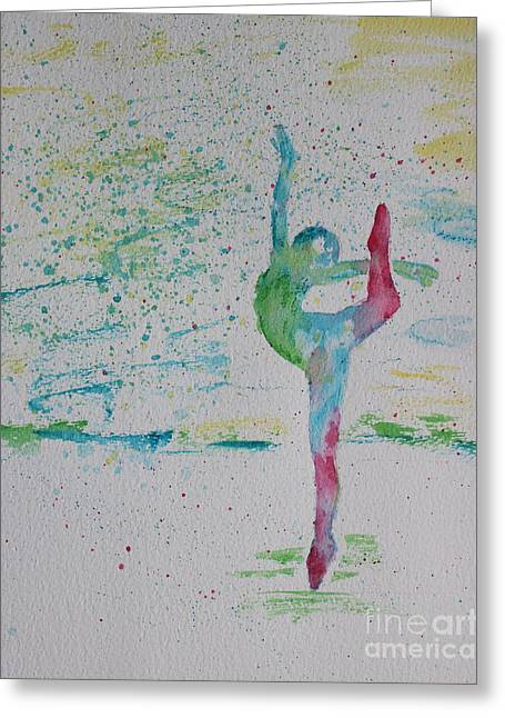 Ballet Pointe 2 Greeting Card by Carolyn Weir