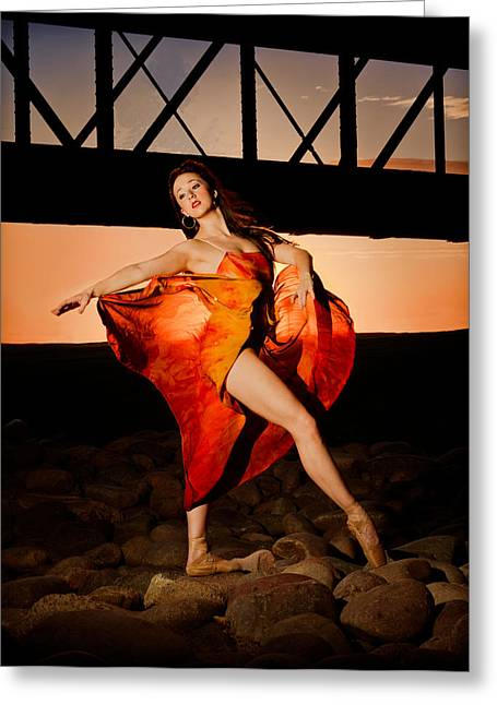 Ballet Sunset Greeting Card