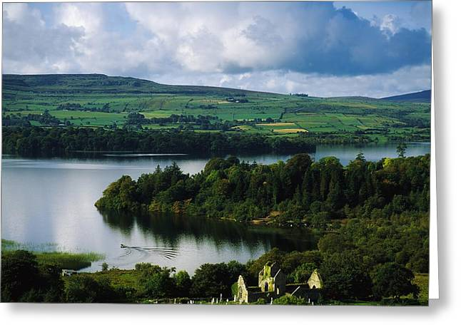 Ballindoon Abbey, Lough Arrow, Co Greeting Card by The Irish Image Collection