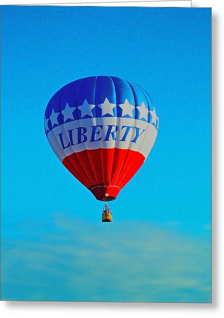 Ballon In Flight Greeting Card by Juergen Weiss
