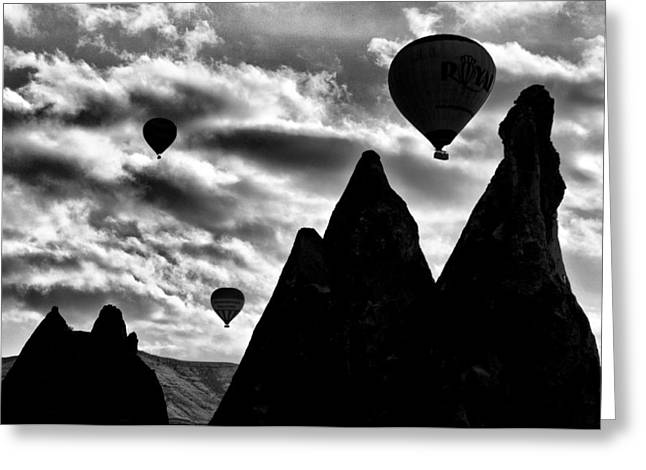 Greeting Card featuring the photograph Ballons - 2 by Okan YILMAZ