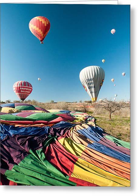Ballons - 5 Greeting Card by Okan YILMAZ
