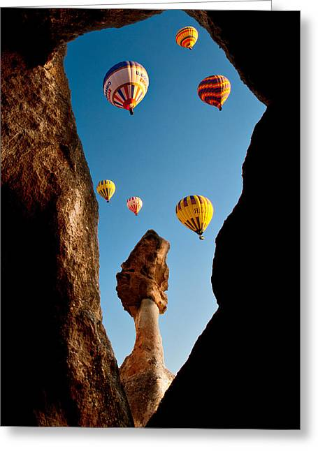 Greeting Card featuring the photograph Ballons by Okan YILMAZ