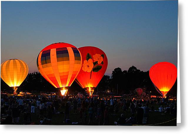 Balloon Glow 1 Greeting Card by Bill Pevlor