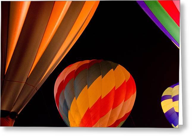 Balloon Glow  Greeting Card by Carol Norman