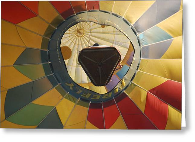 Balloon Over Me Greeting Card by Alan Holbrook
