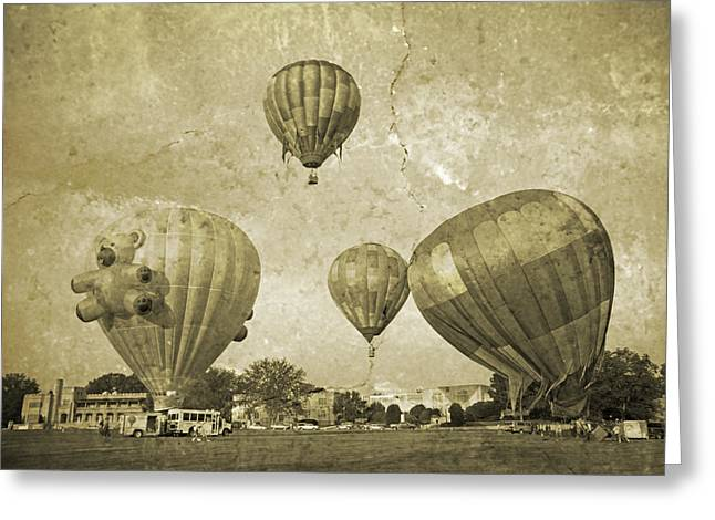 Balloon Rally Greeting Card by Betsy Knapp