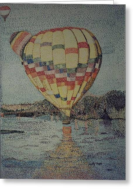 Balloon Ride Over The Rio Grande Greeting Card