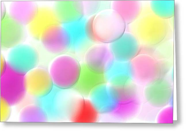 Balloons In The Sky Greeting Card by Rosana Ortiz